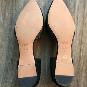 Coach Shoes - NWOT Black Coach Pointed Toe Ballet Flats sz 6.5